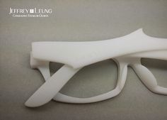 "3D printed eyewear - ""SHARK"" posters and pop materials on Behance"