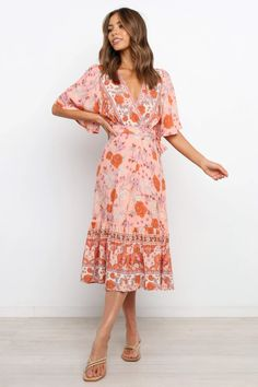 Orlina Dress - Pink - Petal & Pup Australian Boutique, Pink Petals, Short Sleeves, Long Sleeve, New Day, Wrap Style, Pink Dress, Summer Dresses, Pup