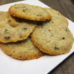 Chocolate Chip Coconut Cookies - KetoDiet.Me KetoDiet.Me