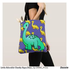 Little Adorable Cheeky Aqua Dinosaur Tote Bag #Onmeprints #Zazzle #Zazzlemade #Zazzlestore #Zazzlestyle #Little #Adorable #Cheeky #Aqua #Dinosaur #Tote #Bag Long Neck Dinosaur, Cute Dinosaur, The Good Dinosaur, Shopping Bag Design, Shopping Bags, Aqua Color, Kids Bags, Kawaii Cute, Reusable Tote Bags