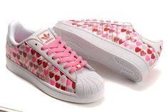 cheap for discount 0c8f0 06cf8 Kauf neuer Damen Online Adidas Superstar II Hearts Schuhe weiß Rot Großer  Rabatt NA890962 Sportlich Schick