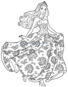 ausmalbilder barbie fee-15 | barbie malvorlagen