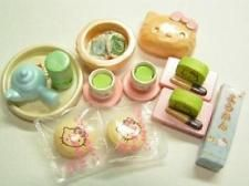 takara Miniature hello kitty tea time set re-ment rare