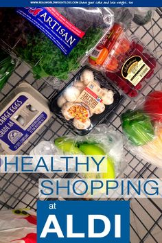 Save green and save your waistline. Aldi has many foods for clean eating - including organic. They also have gluten-free products.