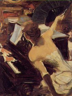 Giovanni Boldini,  La Cantante Mondana, 1884.