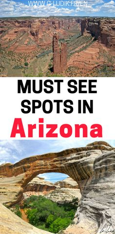 Arizona has many different beautiful parks throughout the state with incredible rock formations. I'll tell you all about these beautiful rock formations including Canyon de Chelly, Valley of the Gods, Sipapu Bridge, Spider Rock and much more. Check out this post of rock formations and hikes in Arizona so you can plan your trip. Don't forget to save these beautiful sites in Arizona to your travel board so you can find it.