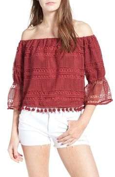 Main Image - Tularosa Alexa Off the Shoulder Lace Top