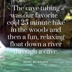What could be better than floating down a lazy river while marveling at beautiful cave formations? #Belize #travel #love