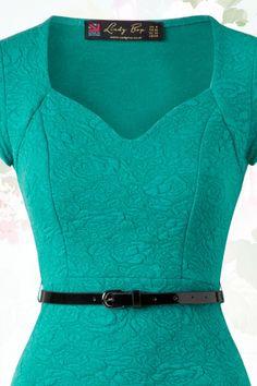 Elizabeth Sweetheart Wiggle Dress in Jade Green : Lindy Bop Elizabeth Jade Green Dress 100 40 15931 20150610 Cute Dresses, Vintage Dresses, Casual Dresses, Fashion Dresses, Jade Green Dress, Green Dress Casual, Blue Green, Dress Sewing Patterns, Clothing Patterns