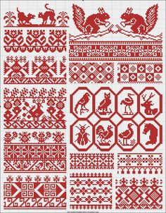 Collected+velikorusskih+and+malorossiyskih+patterns+for+embroidery+-+11.jpg (1249×1600)