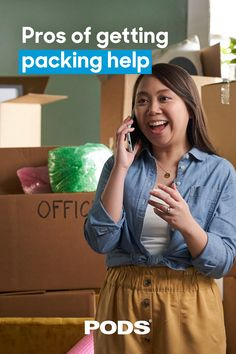 #Moving doesn't have to involve heavy lifting. Make the most out of the space in your container and let us connect you with pro packing and loading support. #MovingTips Moving Tips, Get Moving, Professional Movers, Packing Services, Lets Get Started, Moving And Storage, Helping Hands, Pick One, Health And Safety