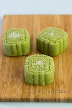 Green Tea (Matcha) Custard Snowskin Mooncakes @FoodBlogs