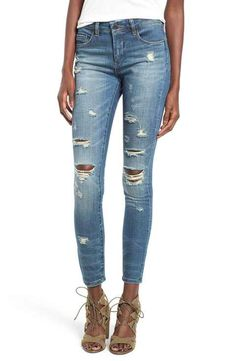 BLANKNYC 'So-Called Life' Destroyed Skinny Jeans