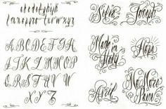 Cursive Lettering Fonts For Tattoos