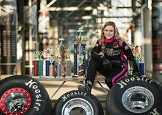 Trophies & tires pictured: McKenna Hasse You are in the right place abo Senior Photos Girls, Senior Pictures, Senior Pics, Senior Year, Women Drivers, Racing Quotes, Kart Racing, Logo Nasa, Fotografia