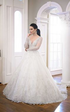 This beautiful ballgown wedding dress from martina liana was made to help show off your natural shine on your big day 💖 Pin This Now to your own wedding inspiration board 👰 // www.martinaliana.com Wedding Dress Pictures, Wedding Dress Styles, Dream Wedding Dresses, Designer Wedding Dresses, Bridal Dresses, Wedding Gowns, Luxe Wedding, Glamorous Wedding, Glitter Wedding