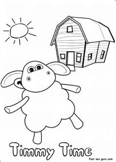 Free Printable cartoon characters timmy time coloring pages for kindergarten