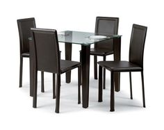 Dining Room Tables Glass Dining Eating Square Bistro Wood Family Kitchen New