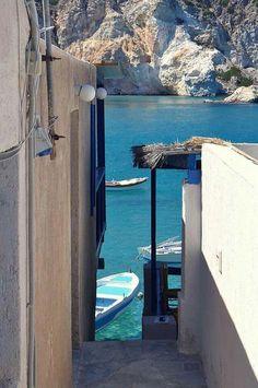 Fyropotamos village, Milos island, Cyclades, Greece