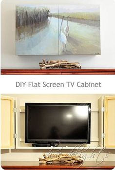 Clever Ways to Disguise a TV in a Family Room