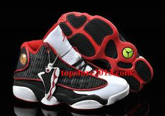 Air Jordan 13 Womens Black White Red