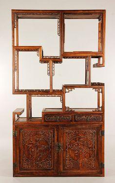 Huanghuali wood cabinet, China, 71î x 39î x 13 3/4î.