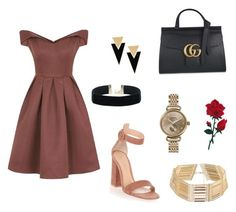 """Untitled #2"" by quinjanepagcay on Polyvore featuring Chi Chi, Gucci, Yves Saint Laurent, Shinola and Gianvito Rossi"