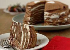 Pancake chocolate cake for Breakfast  / Medical Art