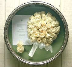 A great way to preserve wedding day flowers!
