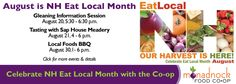 It's NH Eat Local Month!  http://monadnockfood.coop/august-new-hampshire-eat-local-month/