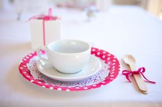Bright and casual bridal shower tea party setting