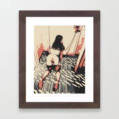 Well trained pet - bondage fantasy Framed Art Print