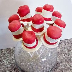 Dr. Seuss cat in the hat cake pops