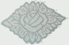 Filet Crochet, Crochet Stitches, Embroidery Patterns, Crochet Patterns, Crochet Tablecloth Pattern, Create Picture, C2c, Double Crochet, Doilies