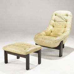 Percival Lafer; Rosewood and Leather Lounge Chair and Ottoman, 1960s.