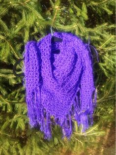 Undeniable Glitter: Purple Triangle Shawl