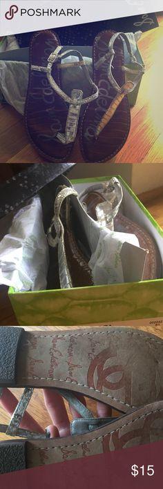 Sam Edelman Gigi sandal in silver Great condition, stored in box. Sam Edelman Shoes Sandals