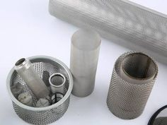 Cylindrical extruder screen is durable that makes more effective for polymer extrusion, also as filters to separate sand or other fine particles from water Expanded Metal Mesh, Perforated Metal, Wire Mesh, Different Shapes, Screens, Gold, Canvases, Metal Lattice, Wire Mesh Screen