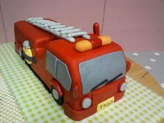 Brandweer auto taart