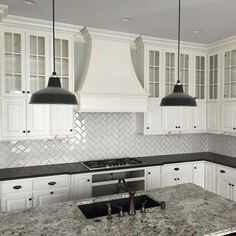 White subway tile kitchen designs subway tile kitchen classic subway tile laid with a herringbone pattern . Subway Tile Kitchen, Kitchen Backsplash, Backsplash Ideas, Backsplash Design, Tile Ideas, Splashback Tiles, Copper Backsplash, Beadboard Backsplash, Kitchen Cabinets