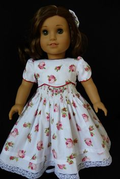 Little Darlings 4 piece Smocked Dress Ensemble for American Girl Doll Molly Kit Ruthie Felicity Addy Samanthal $124.99.