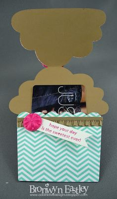 addINKtive designs: Birthday Cupcake Gift Card Holder