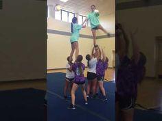 worth - YouTube Easy Cheerleading Stunts, Cool Cheer Stunts, High School Cheerleading, Cheer Pyramids, Cheerleading Pyramids, Senior Sports Photography, Senior Pictures, Cheer Coaches, Team Cheer