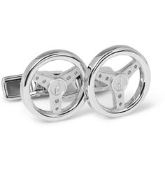Alfred Dunhill Steering Wheel Sterling Silver Cufflinks | MR PORTER