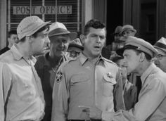 Citizen's Arrest (4/11) Trivia- Andy comes from one direction in the car, and Barney comes from the other. When he gives Gomer all those tickets, he doesn't have on his badge. He could've said that it wasn't legal.