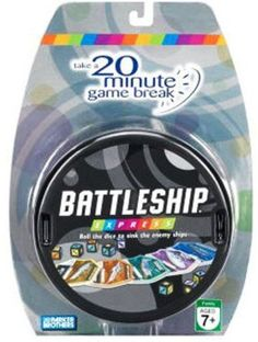 Battleship Express 20 Minute Dice Game Family Travel Size Hasbro Parker Brothers #Hasbro