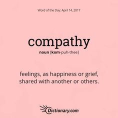 compathy. Compassion on a different level. This word came into our English in the 20th century. #wordoftheday #grammar #keithrmueller #TFOB #nanowrimo #BEA17 #wordnerd #fantasy #books