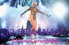 Solo faltan 2 semanas para el concierto de Miley Cyrus en Madrid.