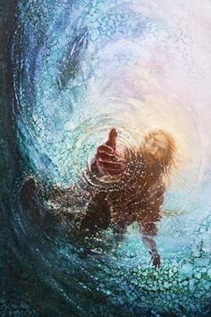 picture of jesus christ with his hand reaching into the water to save peter reaching through the water the hand of god painting Images Du Christ, Pictures Of Jesus Christ, Lds Art, Bible Art, Arte Lds, Image Jesus, Christian Artwork, Christian Paintings, Jesus Painting