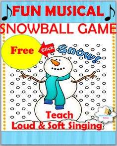 Looking for  fun music lessons for your class? Download this easy game  with fun lesson ideas for your class. It comes with an assessment page for younger elementary classes.Enjoy Your Free singing game activity which Includes the following:*Exciting Snowball  Singing Game*Easy Game Directions*Extra Thematic Snow Day Music Ideas*Fun Kindergarten Beat Chart*Fun 1st Grade Beat Chart*Useful Print & Go- Soft & Loud Assessment PageThis download can be projected onto your screen, smart boar...